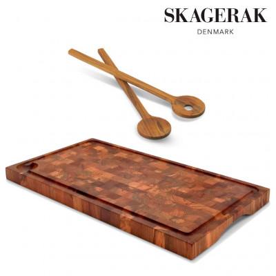 Skagerak - Chop Cutting Board & Salad Servers